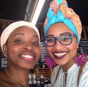 Yassmin Abdel-Majied and Aziza Hassan in Brooklyn on 8/19/16