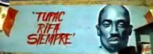 """""""Tupac Rifa Siempre"""" mural art"""