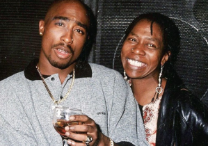 Tupac with his mother, the late Afeni Shakur