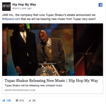 Tupac releasing new music Hip Hop My Way