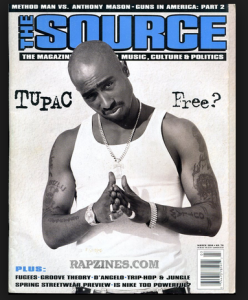 Tupac Shakur Covers The Source Magazine March 1994