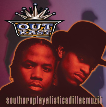 Cover art for OutKast's classic 1994 debut album 'Southernplayalisticadillacmuzik.'