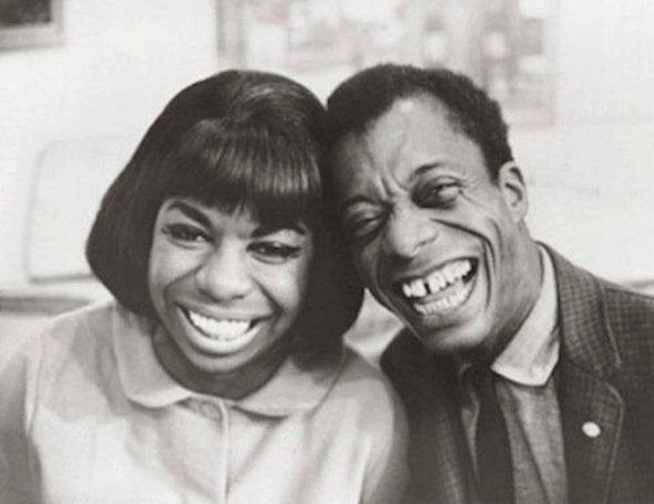 Nina Simone and James Baldwin bumpinh heads! Photo courtesy of blogs.baruch.cuny.edu.