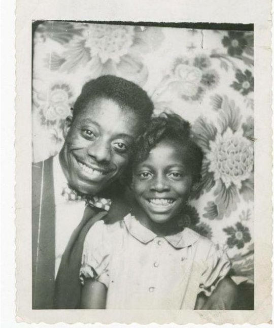 James Baldwin with his younger Paula in 1953