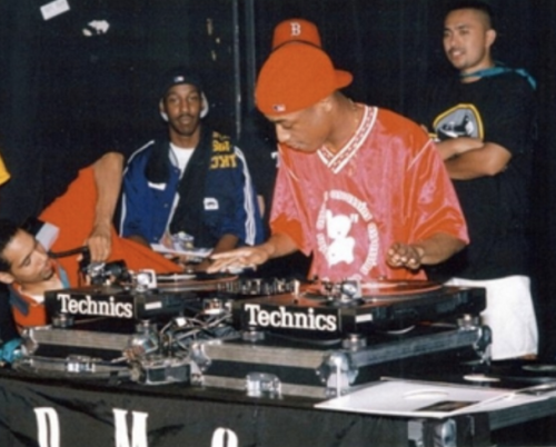 DJ Dummy working the tables