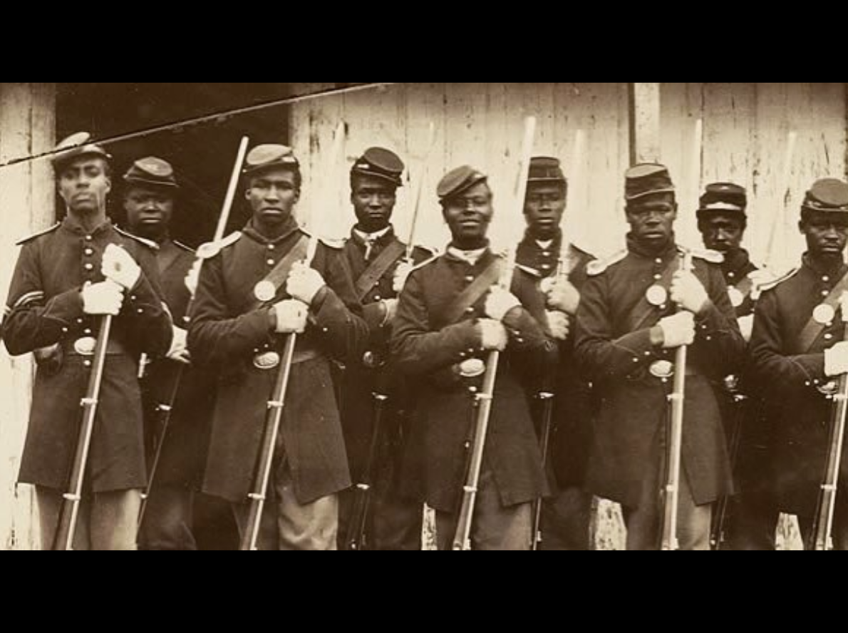 Photo of the Provost Guard of the 107th Colored Infantry, Fort Corcoran, Washington D.C., 1863 courtesy of the Smithsonian National Museum of African American History and Culture