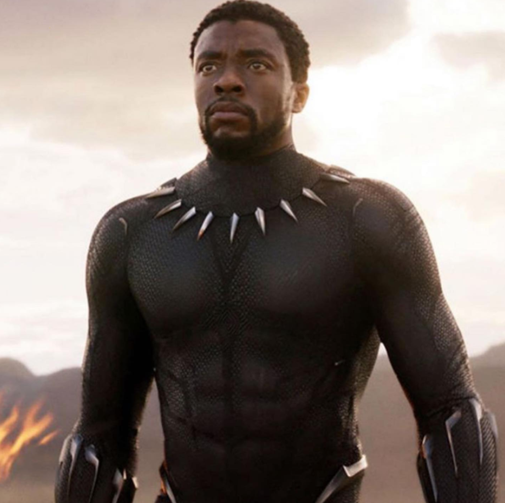 Chadwick Boseman as T'Challa, King Of Wakanda